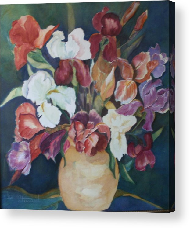 Flowers Acrylic Print featuring the painting Love Language by Donna Steward