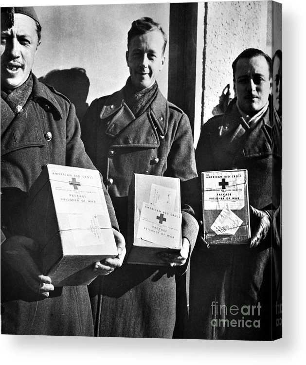 1942 Acrylic Print featuring the photograph Prisoners Of War, C1942 by Granger