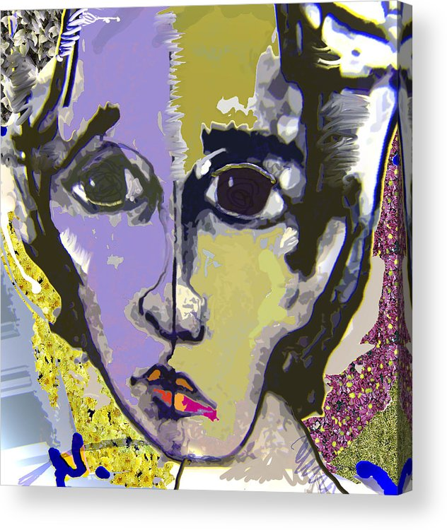 Portrait Acrylic Print featuring the mixed media Projection by Noredin Morgan