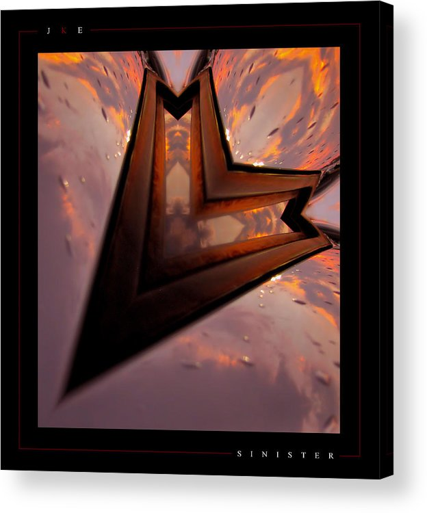 Abstract Acrylic Print featuring the photograph Sinister by Jonathan Ellis Keys