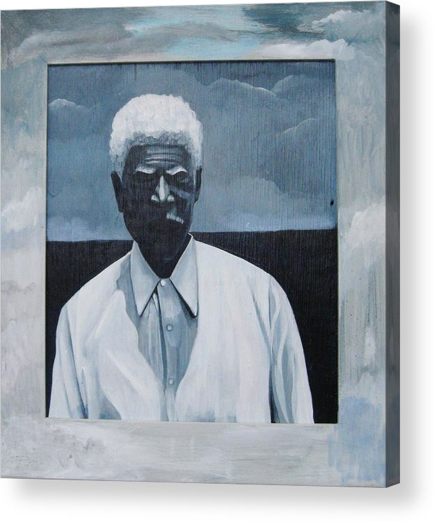 Man Acrylic Print featuring the painting Survivor James by Joyce Owens