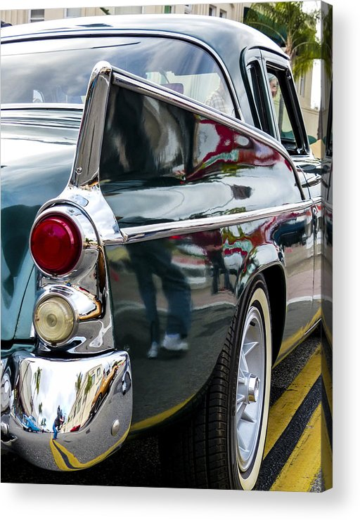 1957 Studebaker Silver Hawk Acrylic Print featuring the photograph 1957 Studebaker Silver Hawk by Robert Grant