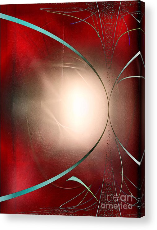 Abstract Acrylic Print featuring the digital art Abstract 550 by John Krakora