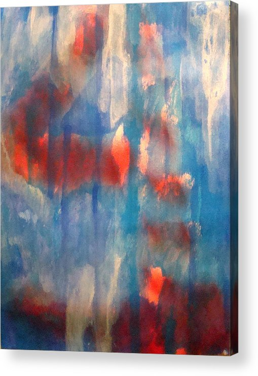 Christian Acrylic Print featuring the painting On A Clear Day - Red Forever by W Todd Durrance