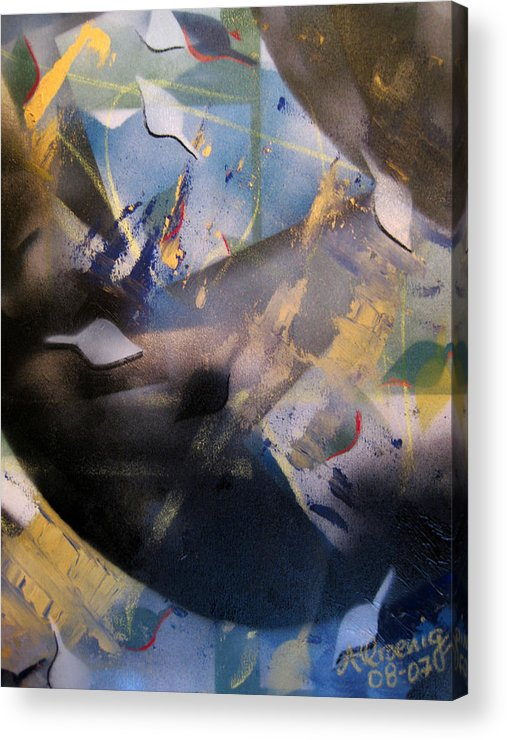 Acrylic Print featuring the painting Activated Charcoal by Andrea Noel Kroenig