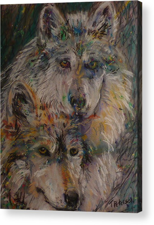 Painting Acrylic Print featuring the painting Alpha Pair by Todd Peterson