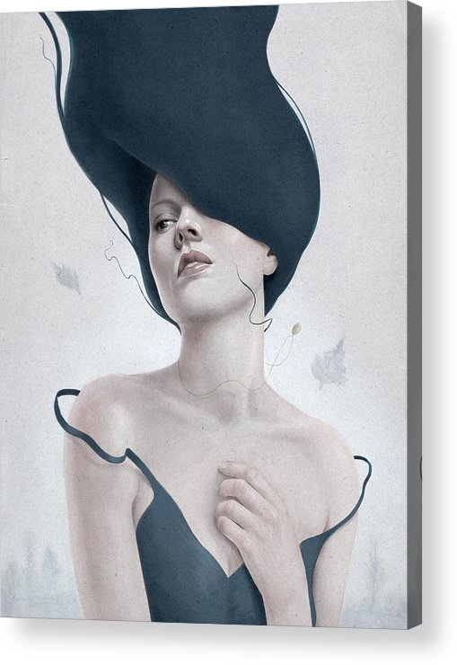 Woman Acrylic Print featuring the digital art Ascension by Diego Fernandez