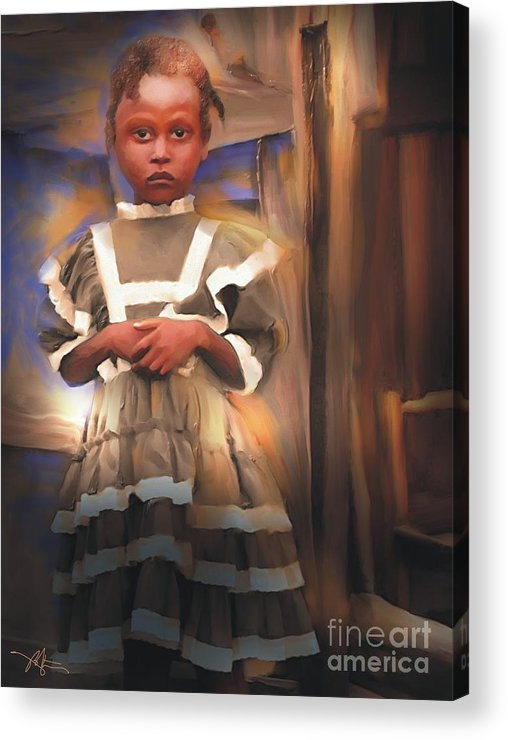 Haiti Acrylic Print featuring the painting Gentle Dignity by Bob Salo