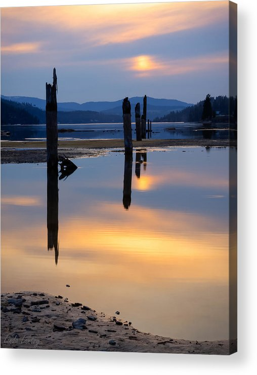 Moody Acrylic Print featuring the photograph Mood On The Bay by Idaho Scenic Images Linda Lantzy