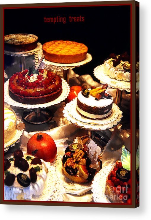 Impressionism Acrylic Print featuring the photograph Tempting Treats by Linda Parker