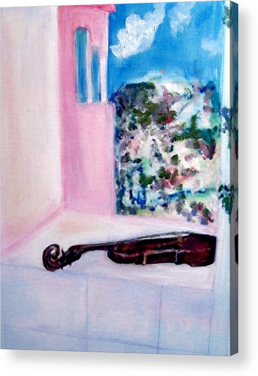 Violin Acrylic Print featuring the painting The Violin by Michela Akers