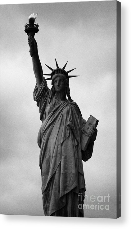Usa Acrylic Print featuring the photograph Statue Of Liberty National Monument Liberty Island New York City Nyc by Joe Fox