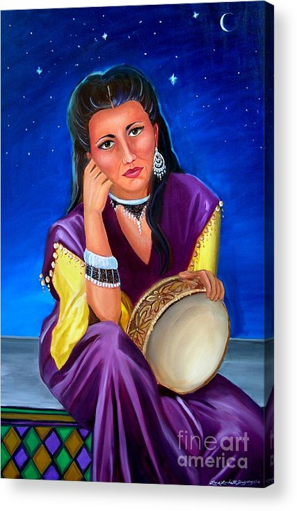 Gypsy Acrylic Print featuring the painting The Gypsy by Lora Duguay