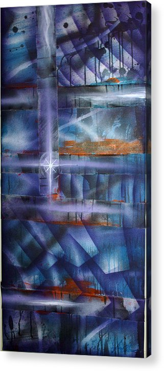 Purple Acrylic Print featuring the painting Purple by Leigh Odom
