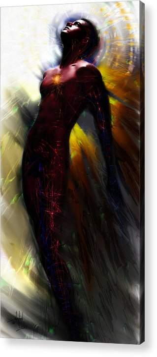 Angel Acrylic Print featuring the digital art The Ecstasy Angel by Stephen Lucas
