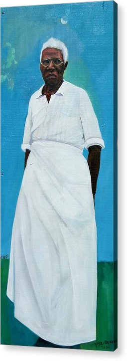 African Acrylic Print featuring the painting Survivor Spirit Emma by Joyce Owens