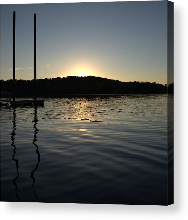 Sunset Acrylic Print featuring the photograph Sunset On The Pier by Artistic Explorer Creations By Gregg L Walker