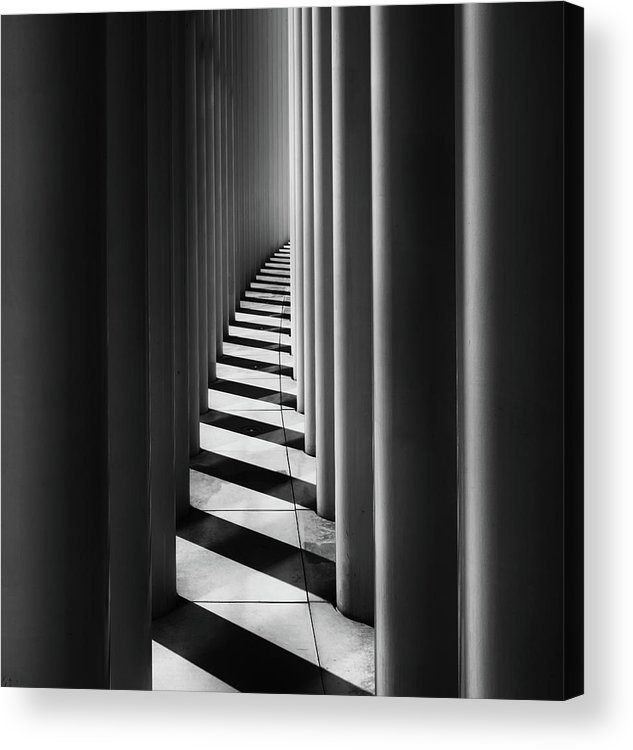 Luxembourg Acrylic Print featuring the photograph Columns by Hans-wolfgang Hawerkamp