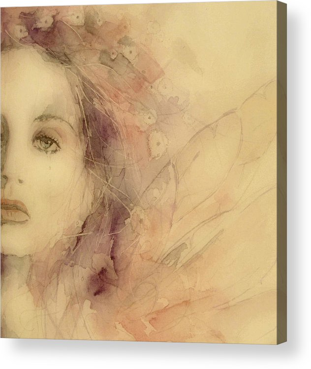 Marianne Faithfull British Acrylic Print featuring the painting As Tears Go By by Paul Lovering