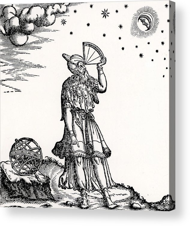 Astronomer Acrylic Print featuring the drawing Astronomer, Probably Ptolemy Of Alexandria by Venetian School