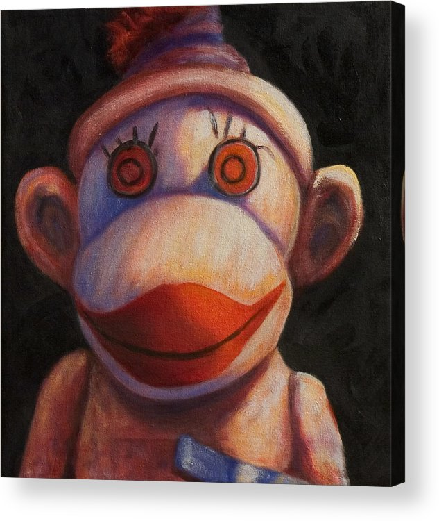 Children Acrylic Print featuring the painting Face by Shannon Grissom