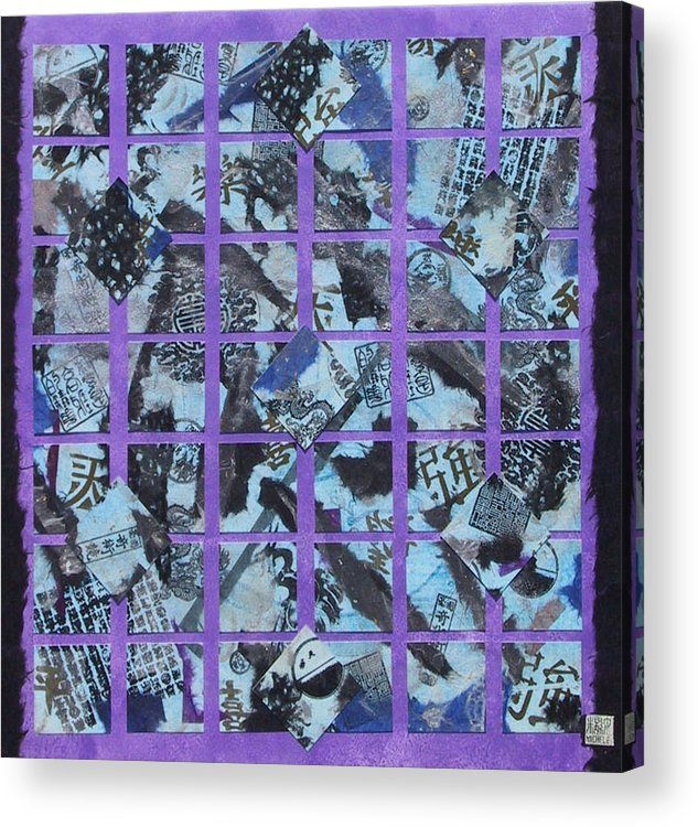 Mixed Media Acrylic Print featuring the mixed media Fragmented by Michele Caporaso