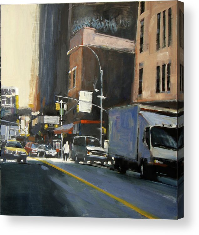 New York City Acrylic Print featuring the painting Gallery District by Patti Mollica