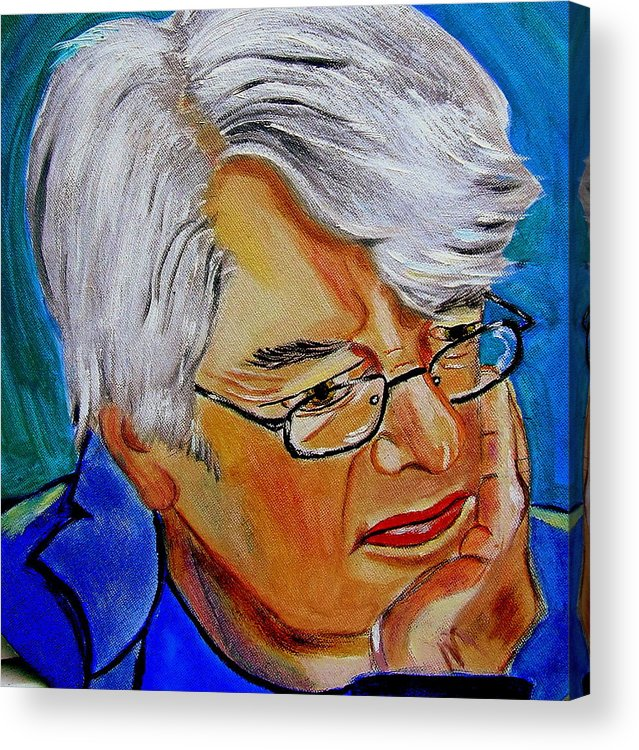 People Acrylic Print featuring the painting John Sothcott Our Mutual Friend by Rusty Woodward Gladdish