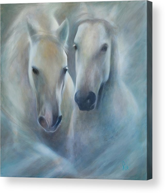Horse Acrylic Print featuring the painting Lipizzaner Spirit by Elizabeth Silk