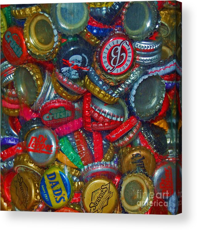 Bottles Acrylic Print featuring the photograph Pop Art by Debbi Granruth