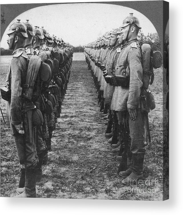 1914 Acrylic Print featuring the photograph World War I: German Troop by Granger