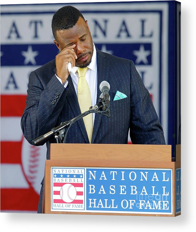 Three Quarter Length Acrylic Print featuring the photograph 2016 Baseball Hall Of Fame Induction 1 by Jim Mcisaac