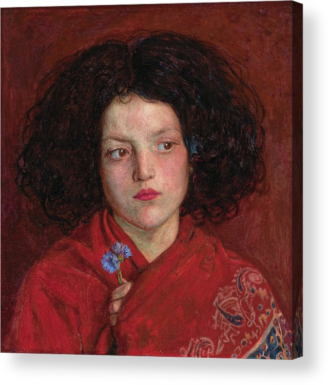 British Acrylic Print featuring the painting The Irish Girl by Ford Madox Brown