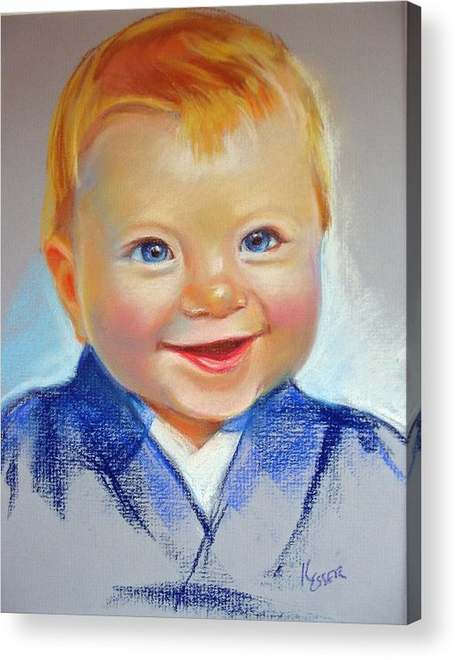 Baby Acrylic Print featuring the painting Hunter by Kaytee Esser