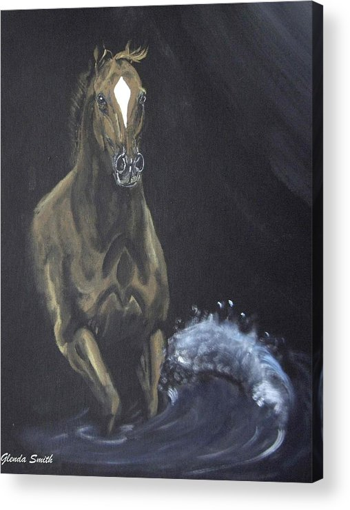 Horse Acrylic Print featuring the painting Surf Runner by Glenda Smith