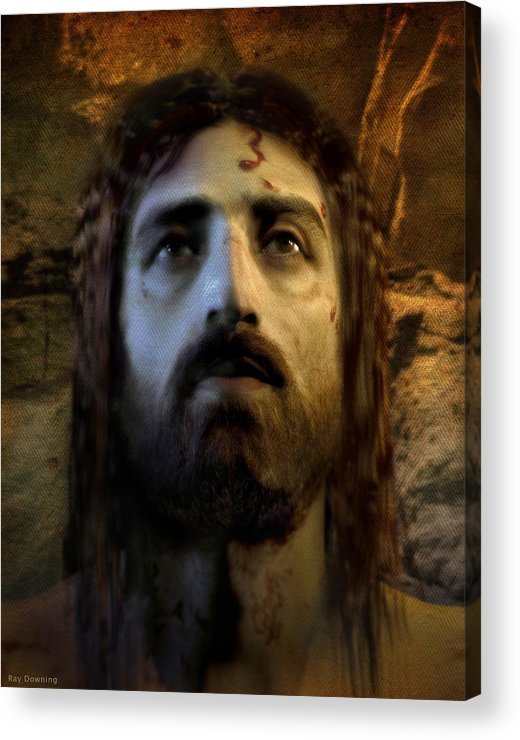 Jesus Acrylic Print featuring the digital art Jesus Alive Again by Ray Downing