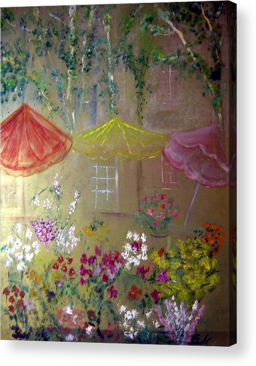 Flowers Acrylic Print featuring the painting Antoinette's Flowers by Michela Akers