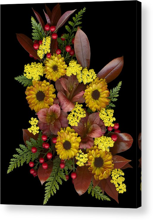 Floral Acrylic Print featuring the photograph Fall Collection by Marsha Tudor