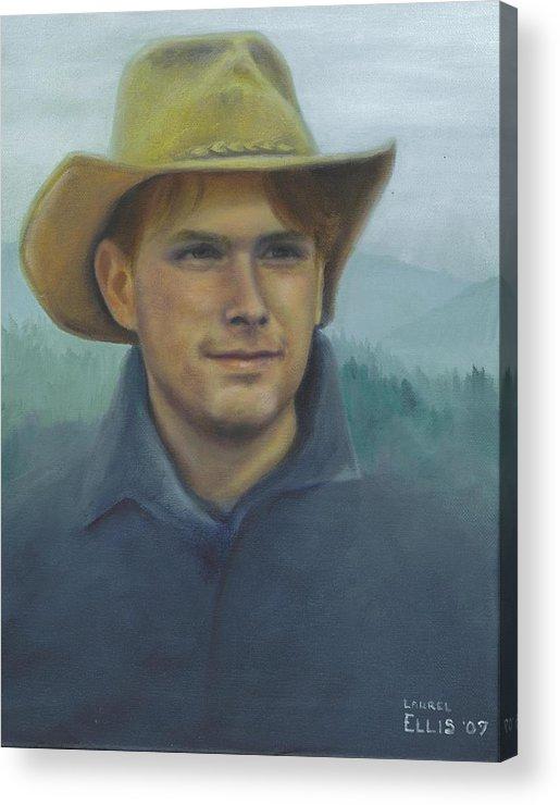 Acrylic Print featuring the painting Jarrod by Laurel Ellis