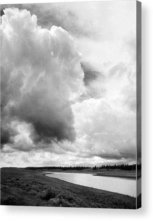 Landscape Acrylic Print featuring the photograph Storm Over The River by Allan McConnell