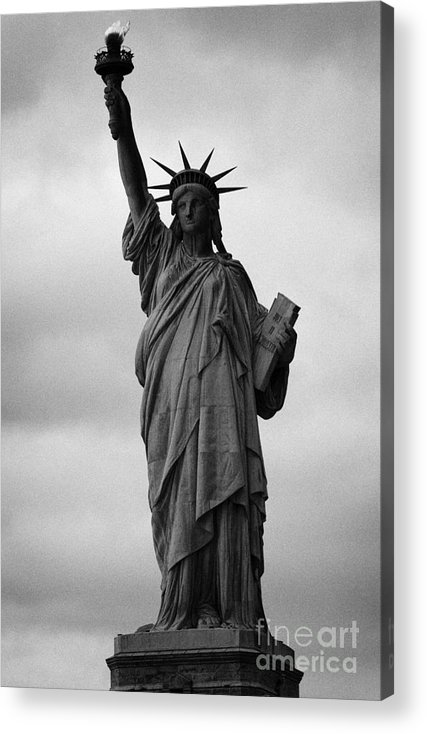 Usa Acrylic Print featuring the photograph Statue Of Liberty National Monument Liberty Island New York City Nyc Usa by Joe Fox