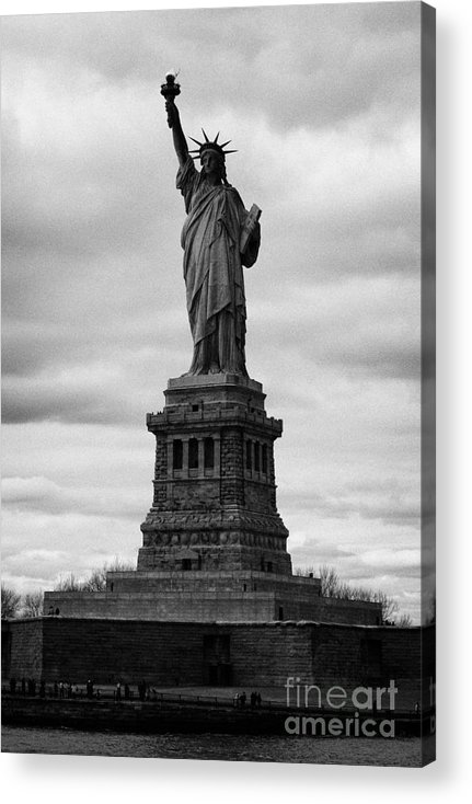 Usa Acrylic Print featuring the photograph Statue Of Liberty National Monument Liberty Island New York City Usa by Joe Fox