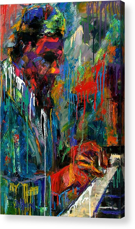 Painting Acrylic Print featuring the painting Round Midnight by Debra Hurd