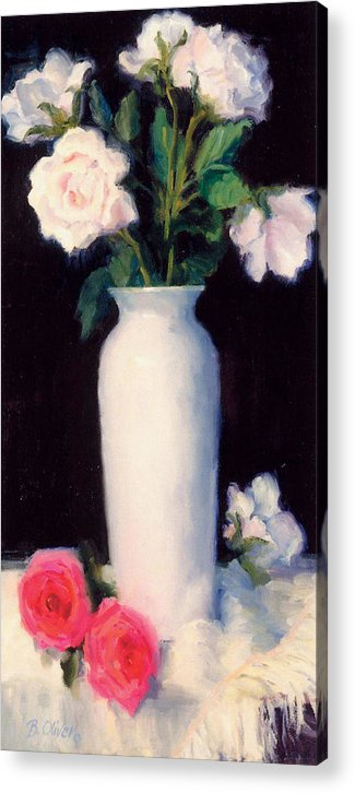 Still Life Acrylic Print featuring the painting Simple Elegance by Bunny Oliver
