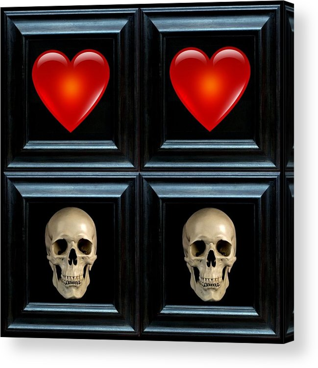 Heart Acrylic Print featuring the digital art Love And Death Viiii by Lee Kendall