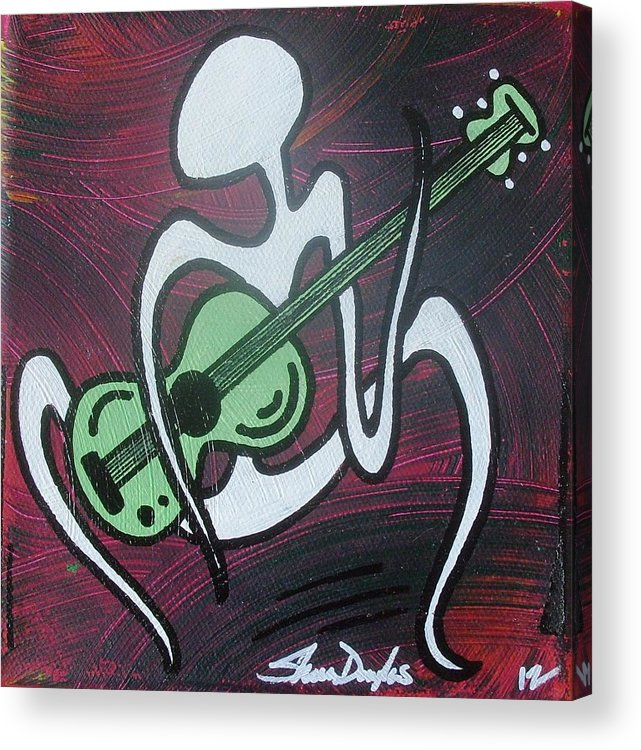 Acrylic Acrylic Print featuring the painting Play A Little Guitar by Sheen Douglas Eisele
