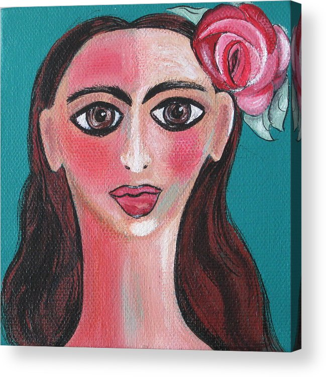 Canvas Acrylic Print featuring the painting Rosa by Sue Wright