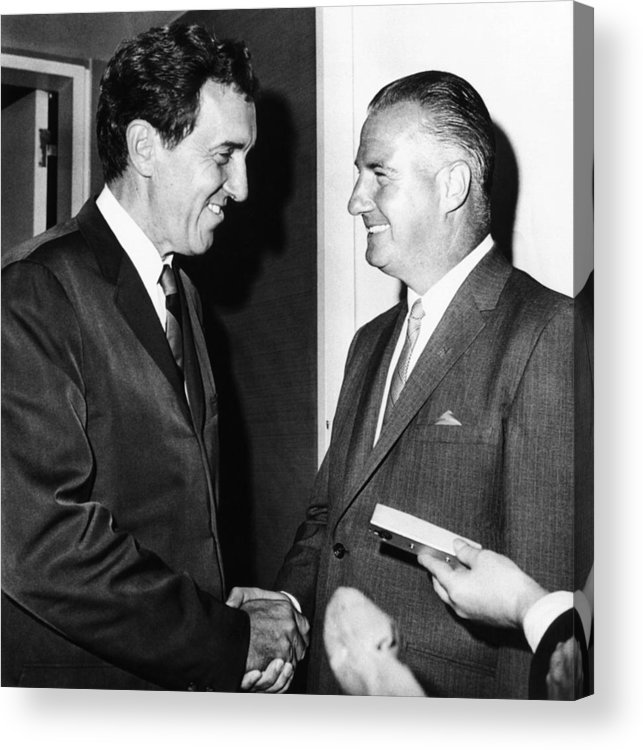 History Acrylic Print featuring the photograph 1968 Republican And Democratic Vice by Everett