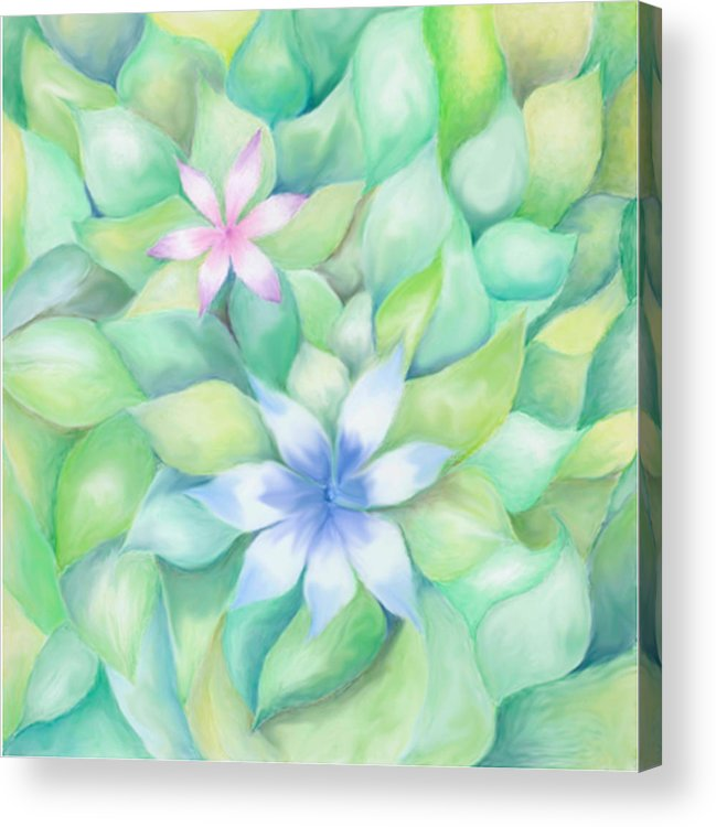 Flowers Acrylic Print featuring the drawing Celtic Flowers by Linda Pope