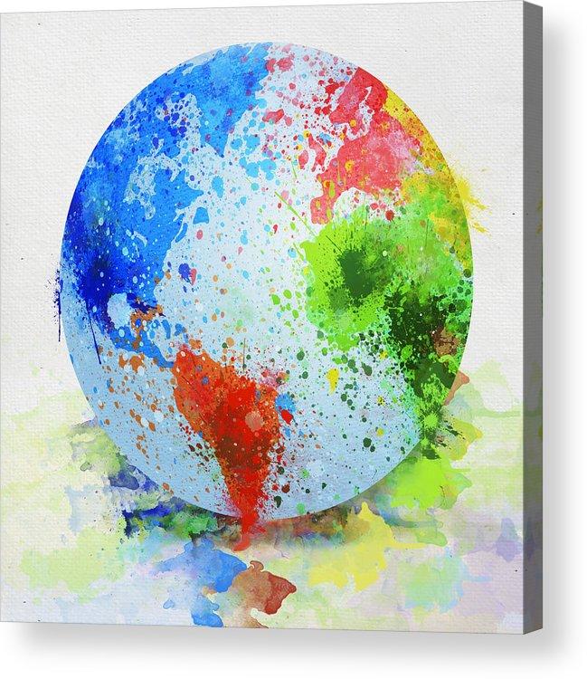 Adventure Acrylic Print featuring the painting Globe Painting by Setsiri Silapasuwanchai